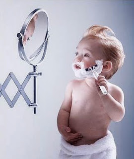The Kids Grow Up – Fast - child kid shaving in the mirror