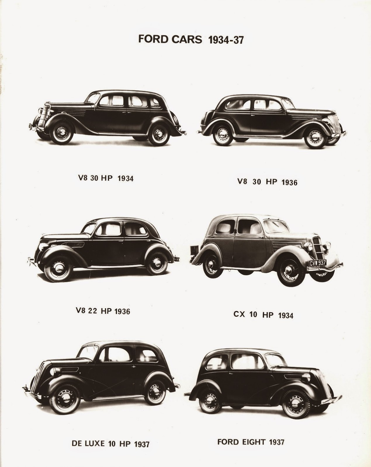 Ford of england cars through the years 1928 1958