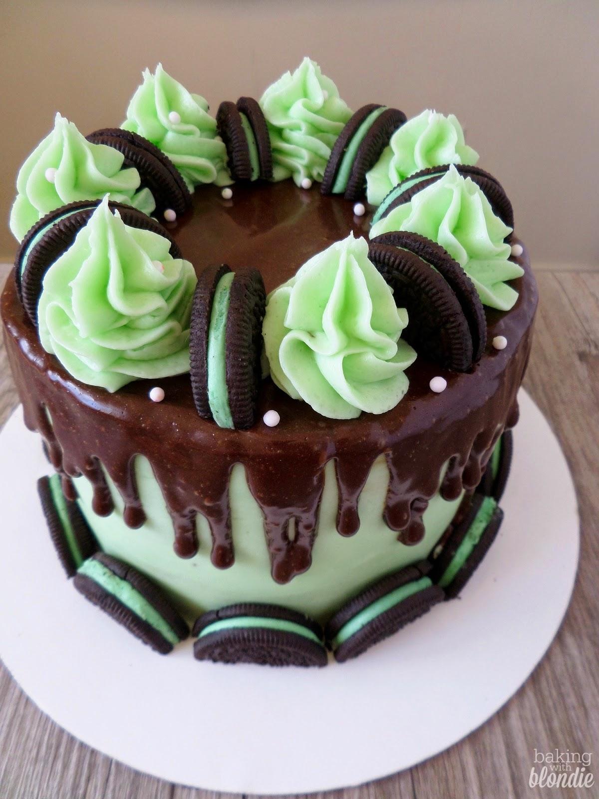 Chocolate Cake With Red Velvet Oreos