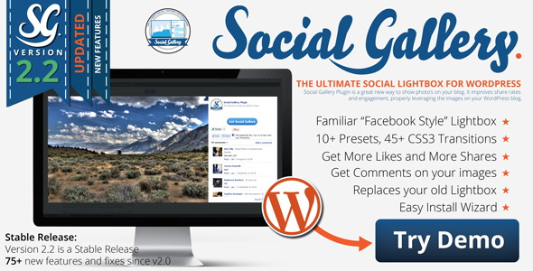 CodeCanyon - Social Gallery WordPress Photo Viewer Plugin