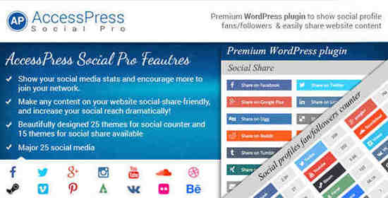 WordPress Plugin AccessPress Social Pro v1.0.2
