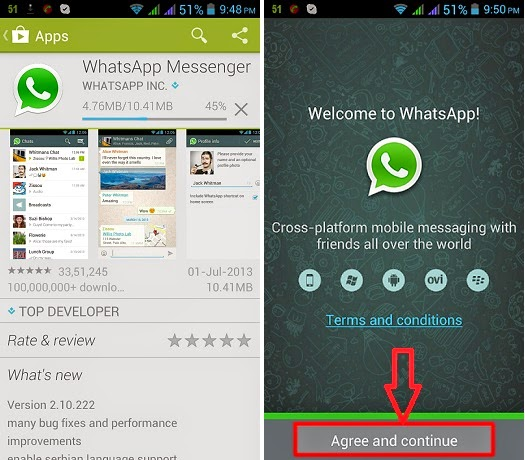 download and install whatsapp