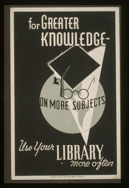 Poster de promotion des bibliothèques