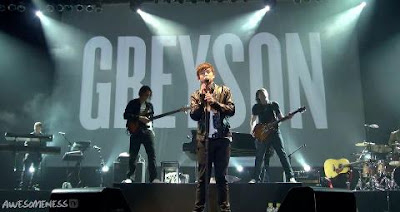 "Greyson Chance performing ""Take A Look At Me Now"" Video"