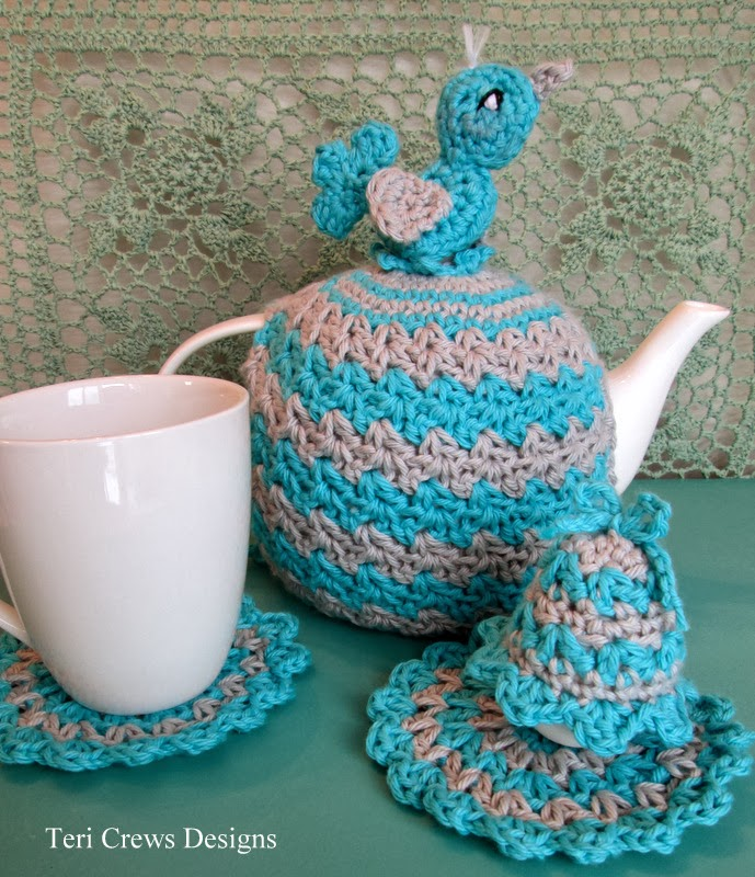 Teris Blog Bird Tea Cosy Set Crochet Pattern Free