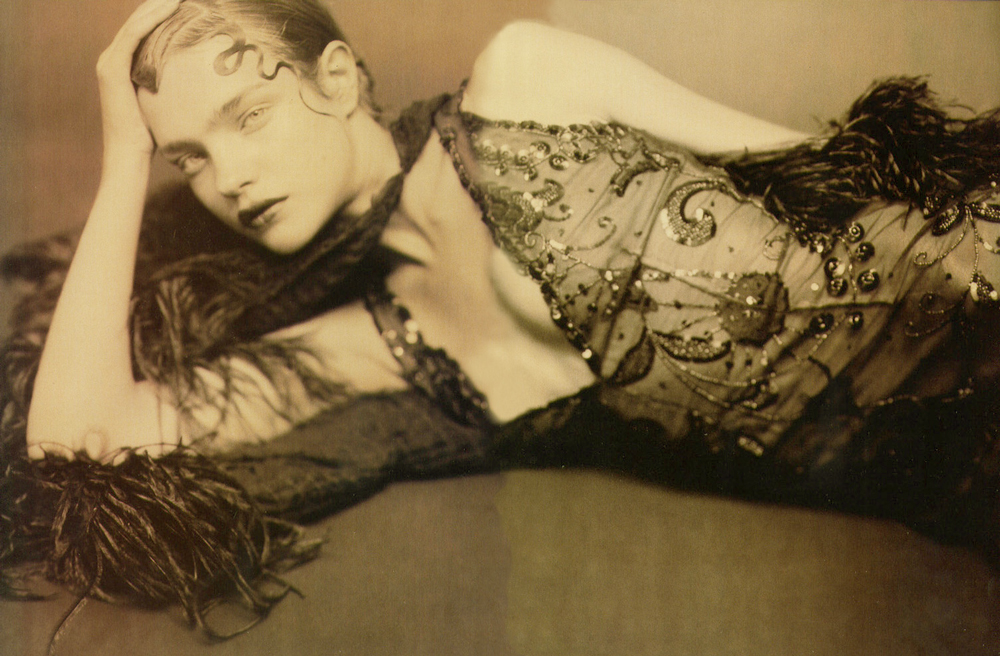 Natalia Vodianova in Elegance report / Vogue Italia September 2002 (photography: Paolo Roversi)
