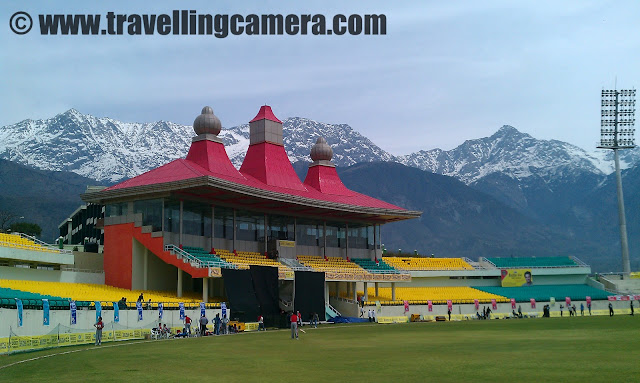 Although I am not a big fan of cricket but recently I have been following few activities around Dharmshala Cricket Stadium and this year 3 IPL matches are going be played on this stadium. It's a big this for HPCA, Dharmshala residents and I think for all the Himachalis !!! Three IPL Matches are on 15th May 2011, 17th May 2011 and 21st May 2011... Anurag Thakur, President HPCA who has contributed a lot towards this particular Stadium and trying to make that international cricket also take place at Dharmshala Cricket Stadium !!!Here is a quick schedule of all the three IPL Macches which are going to happen in Dharmshala Cricket Stadium :Here is a pnoramic view of Dharmshala Cricket Stadium !!! Surrounded by snow covered Dhauladhar mountain ranges and cool winds make it special in the month of May when we can't imagine to sit in Firoz Shah Kotla @ 45 degree !!Here is a first glance of Dharmshala Stadium when we enter from the main gate !!!
