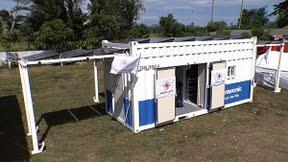 contenedor solar panasonic