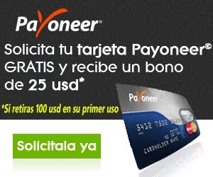 Solicita tu tarjeta Payoneer
