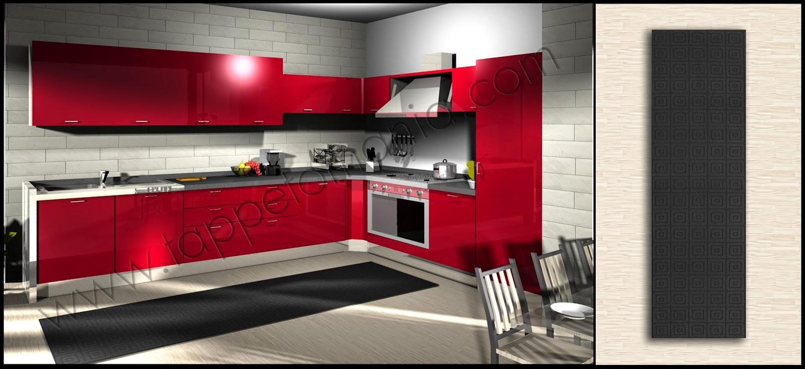 Piastrelle rosse per cucina great modello di cucina rossa dal design moderno n with piastrelle - Piastrelle cucina rosse ...