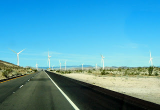 Wind turbines right by the road!