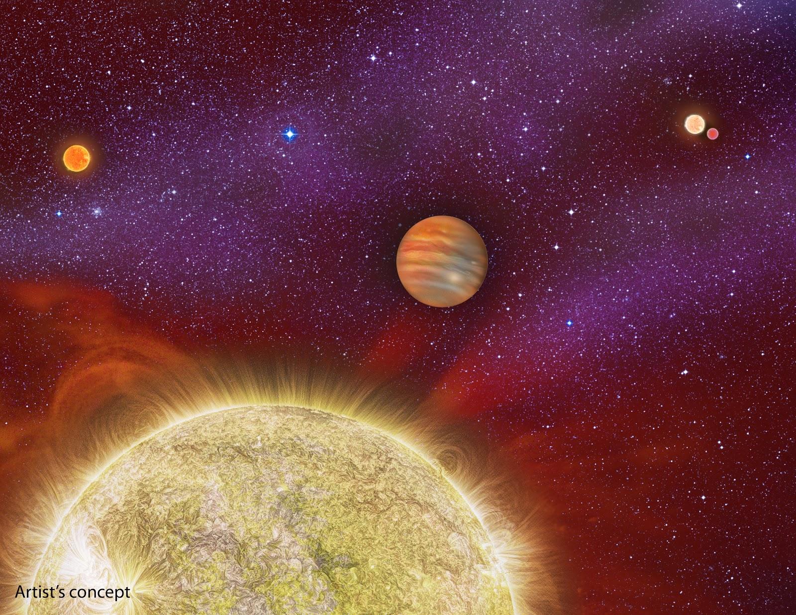 Dört yıldızlı bir sistemde bulunan bir gezegen keşfedildi (30 Ari b güneş sistemi)