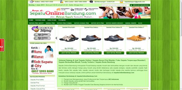 Sepatu murah, polisi online