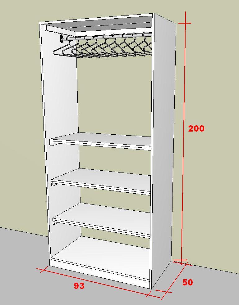 MARCENARIA DIGIT@L Guarda roupas simples e barato -> Gabinete De Banheiro Sketchup