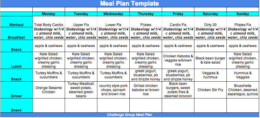 21 Day Fix Meal Plan, Melanie MItro
