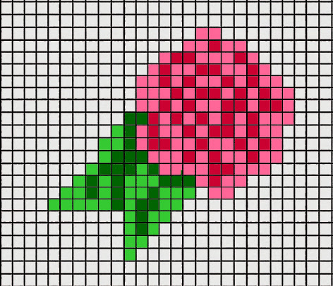 Flower Intarsia Chart Right Hand