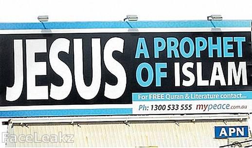Sebuah Kelompok Muslim Di Australia Menyebarkan Iklan yesus seorang nabi islam