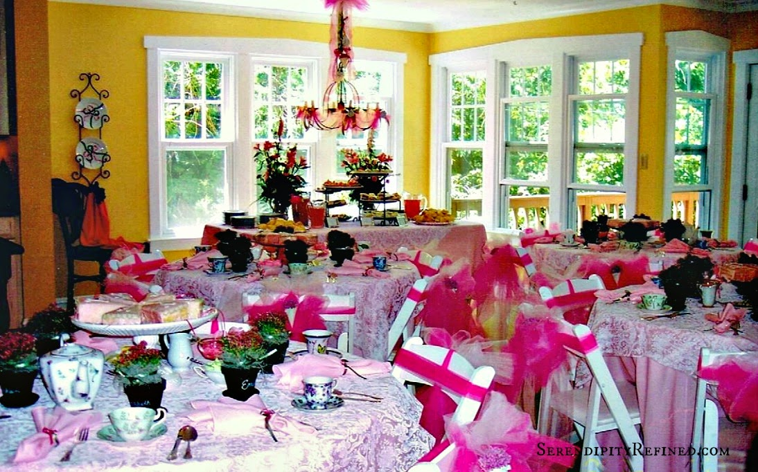 pink and white sweet 16 vintage tea party ideas - Spring Party Decorating Ideas