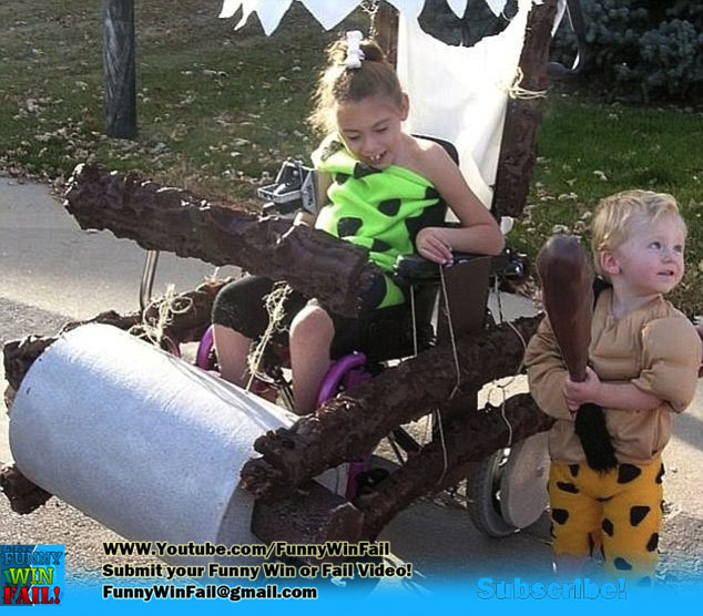 Awesome Flintstones Halloween Wheelchair Costume