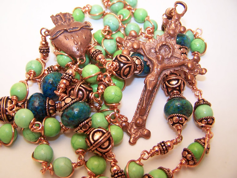 New! The Copper Collection! Rosary Of The Sacred Heart Of Jesus