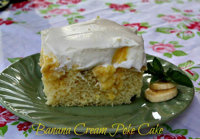 how to make a banana cream poke cake