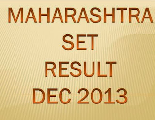 Maharashtra SET Exam Result Dec 2013 Marks at www.setexam.unipune.ac.in