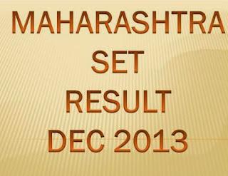 Maharashtra SET Exam Result Dec 2013 Marks at www.setexam.unipune.ac.in
