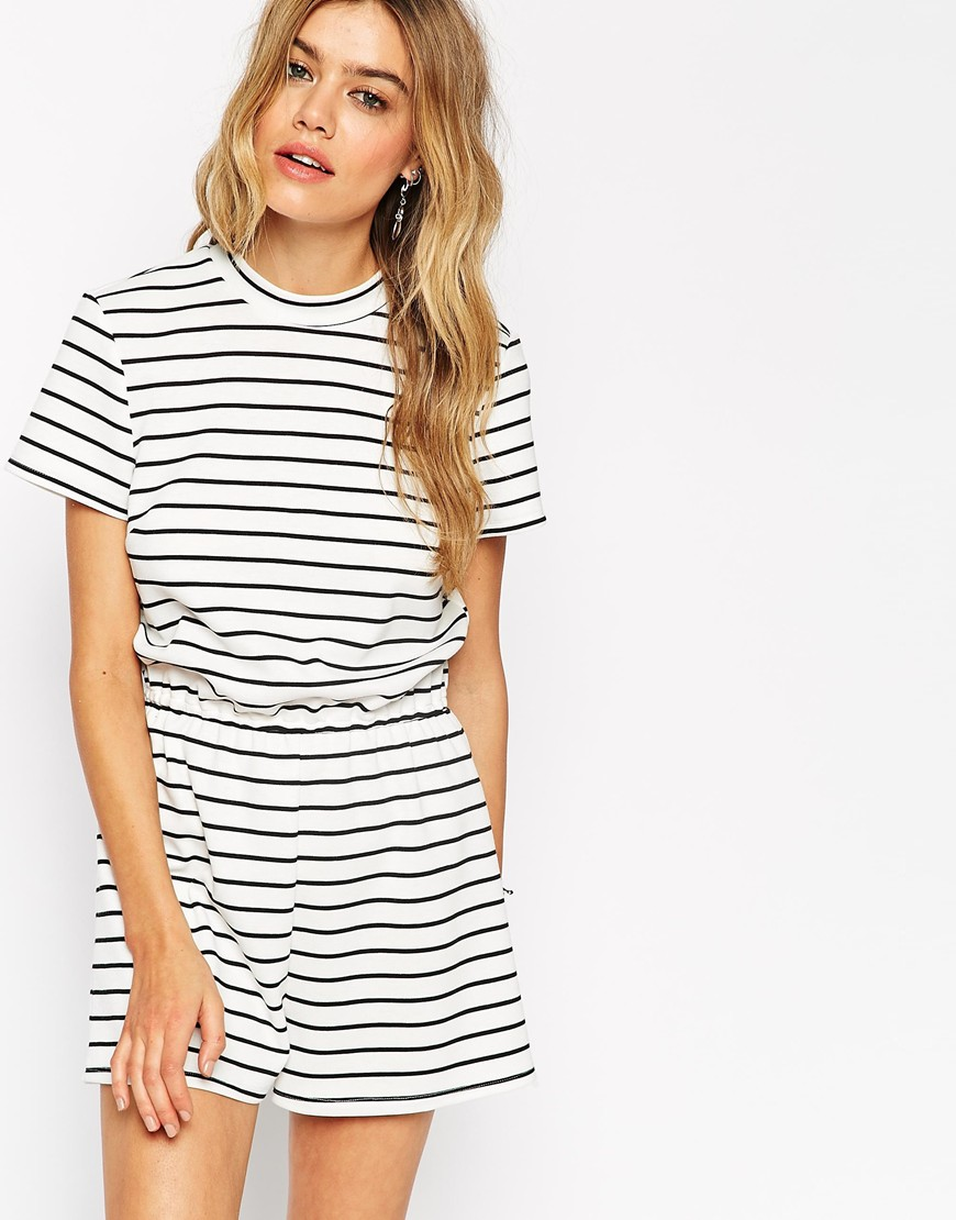 asos stripe vintage playsuit