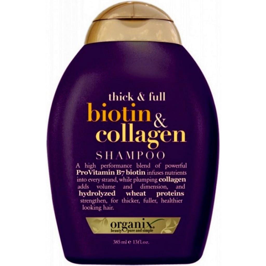 Shampoo, biotin Collagen de, organix, cabellos y Hierbas