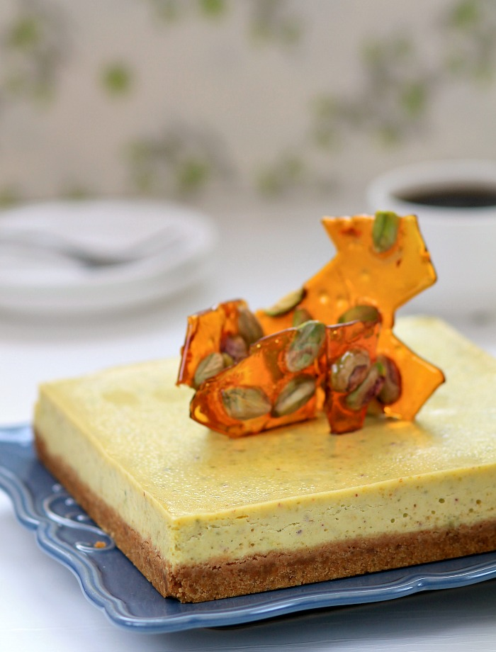 my bare cupboard: Pistachio-lime cheesecake with pistachio ...