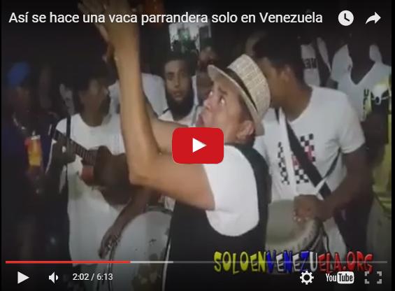 Haciendo una vaca parrandera Sólo en Venezuela