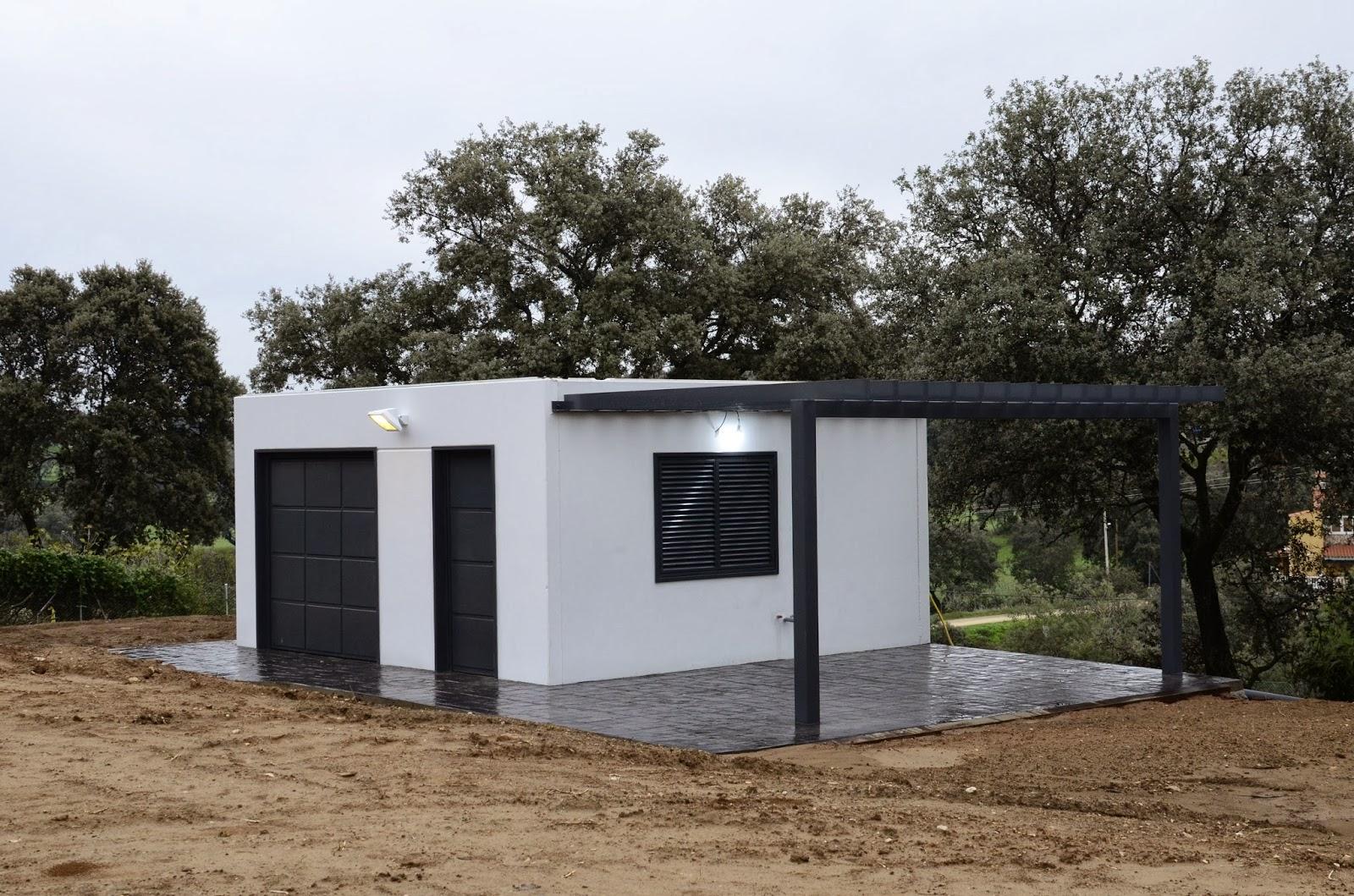 casetas de hormign en estilo moderno o bien con una construccin ms clsica segn sea la zona y los gustos del propietario