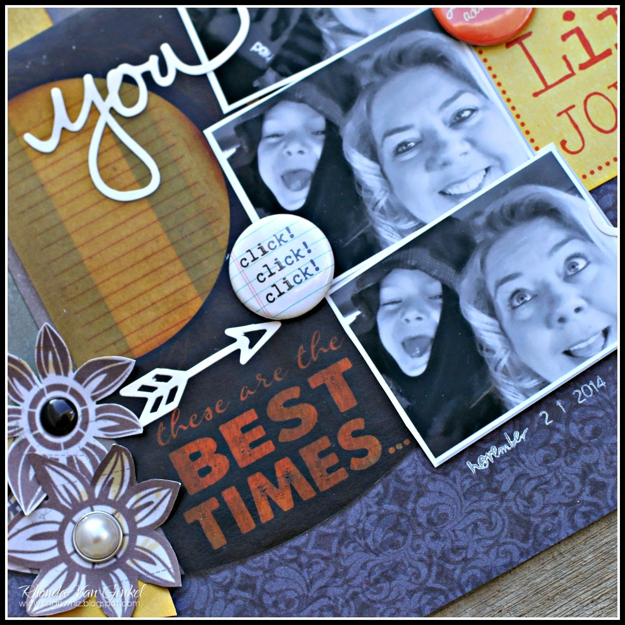 You and Me Life Is A Joy Ride by Rhonda Van Ginkel for Quick Quotes featuring November Club Q