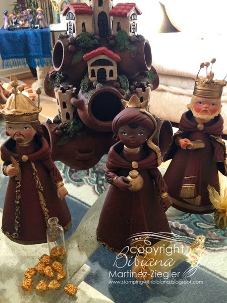 nativity kings mexican clay