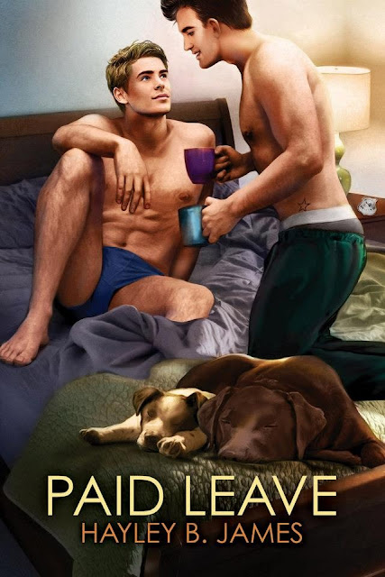 Paid Leave, gay romance novel with cover illustration by Paul Richmond