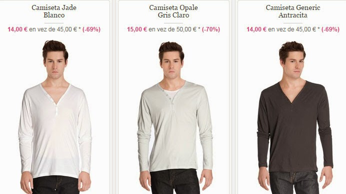 Tres camisetas de manga larga a un PVP de sólo 15 euros