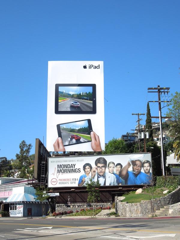 Apple iPads car game billboard