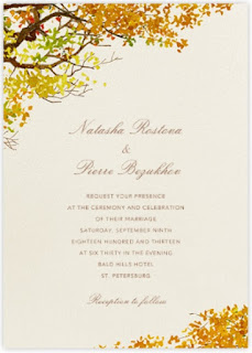 """Autumn Boughs"" invitation by Paperless Post"