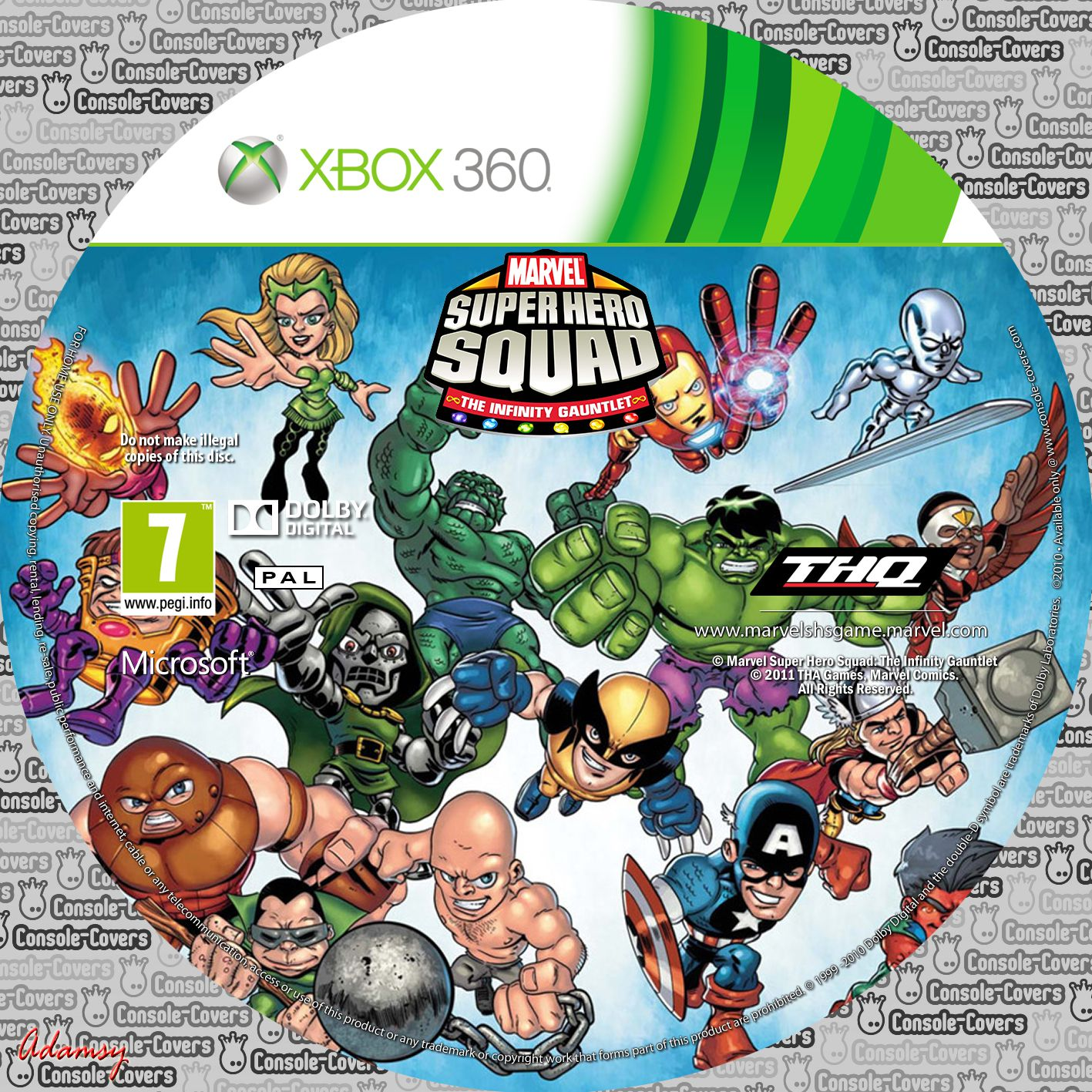 Label marvel super hero squad the infinity gautlet xbox 360