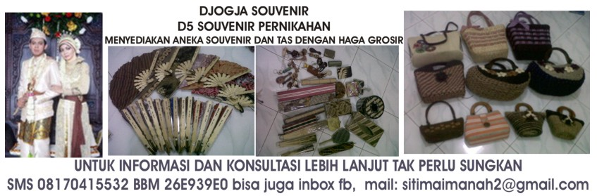 hp: 08170415532 DJOGJA SOUVENIR D5 souvenir pernikahan