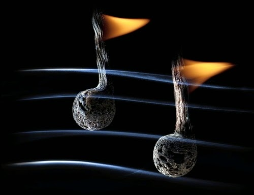 21-Match-Music-Notes-Flame-Russian-Photographer-Illustrator-Stanislav-Aristov-PolTergejst-www-designstack-co