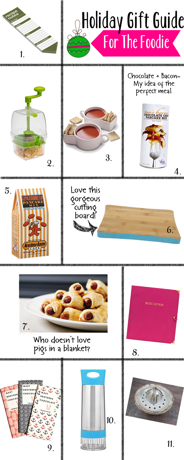 Gift Guide for the Foodie, Gifts from the Chef, Holiday Gift Guide
