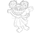 #4 Abby Cadabby Coloring Page