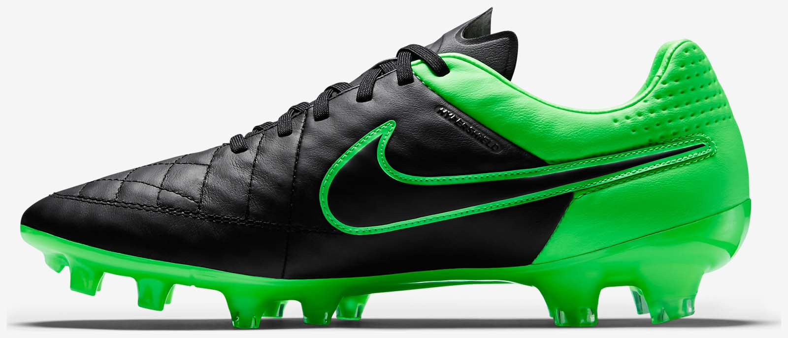 black and green nikes
