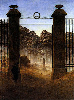 Caspar David Friedrich, The Cemetery Entrance