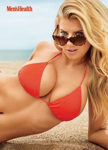 Charlotte McKinney hot in sexy bikini Mens Health magazine july 2015 photo shoot