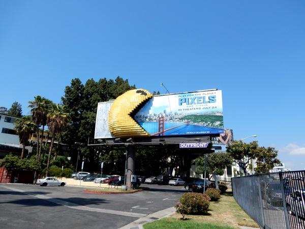 3D Pac-Man Pixels movie billboard