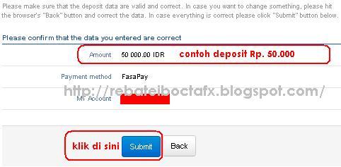deposit octafx dengan fasapay step3