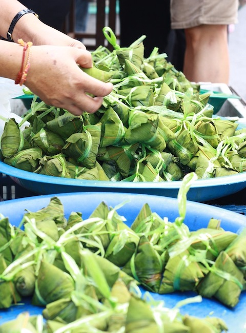siam thai zongzi for sale at chowrasta morning market in penang