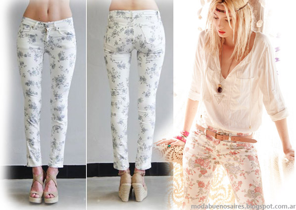 Moda jeans 2014. Pantalones de Jeans verano 2014 Sweet. Moda 2014.